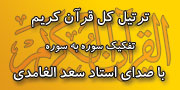 ترتیل کل قرآن کریم به تفکیک سوره - با صدای استاد سعد الغامدی